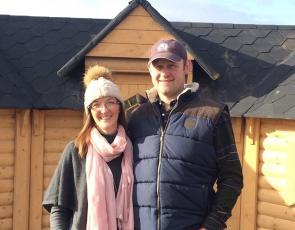 Mr & Mrs Hamilton outside one of the kotas