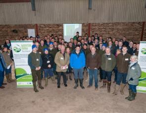 Participants at Lothians Monitor Farm meeting