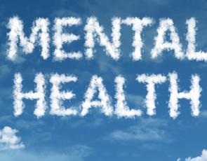 Mental health written in clouds