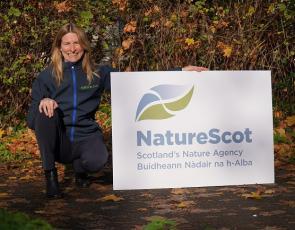 Francesca Osowska with NatureScot branding