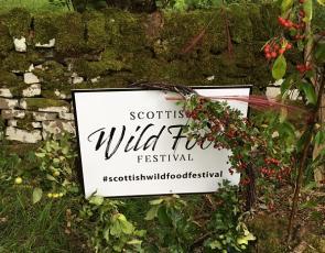 SCottish Wild Food Festival sign