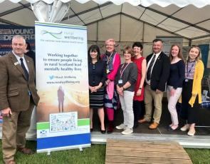Group photo at Support in Mind stand at Royal Highland Show