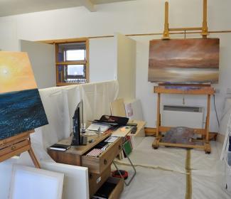 Artist studio on Bressay, art by Gunner Olafsson