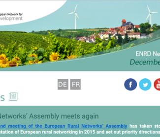 Screenshot of ENRD newsletter