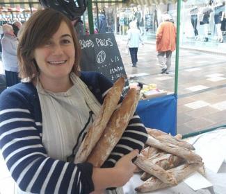 Ashley Robinson at market stall