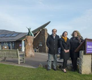 Architects outside the Scottish Seabird Centre