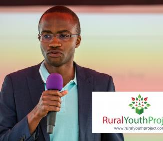GrowBiz Enterprise Facilitator Bravo Nyamudoka speaking at the Rural Youth Project Ideas festival 2018