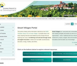 Screenshot from Smart Villages portal